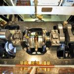Blick in den Maschinenraum eines Raddampfers