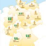 Glückslandkarte für Eurojackpot in Deutschland 2016