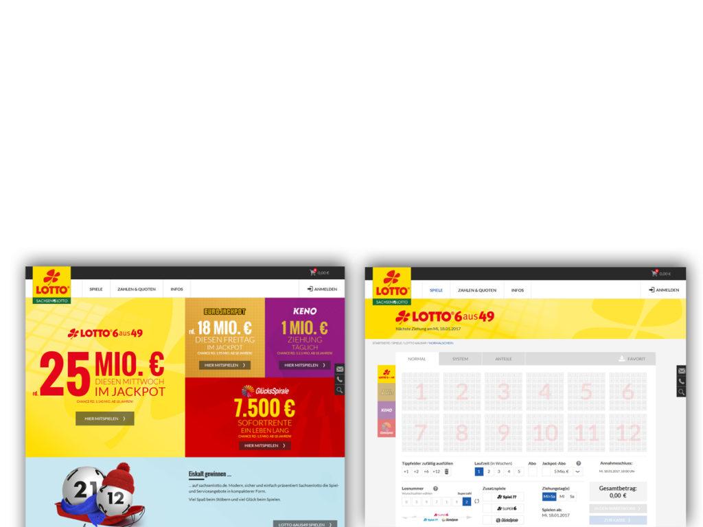 Neue Webseite von sachsenlotto.de / Start-und-Spielseite